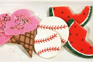 Ice Cream Baseball Watermelon Cookies