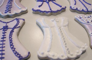 Boustier corset cookies - Lemon Tree Cookies