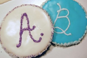 AB Letter Cookies