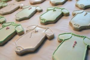 Onesies baby cookies