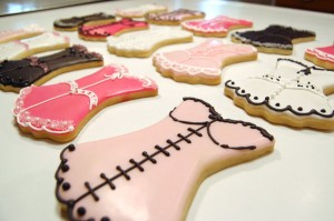 Pink Boustier Bachelorette Cookies